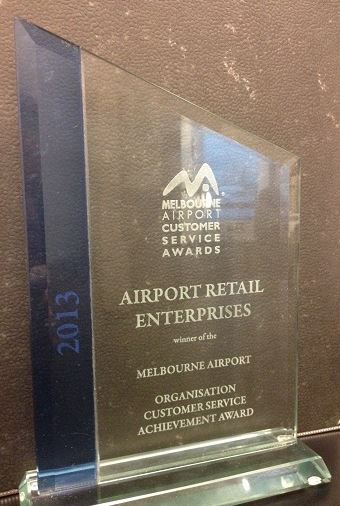 "2013 Melbourne Airport's ""Organisation Customer Service Achievement Award"""