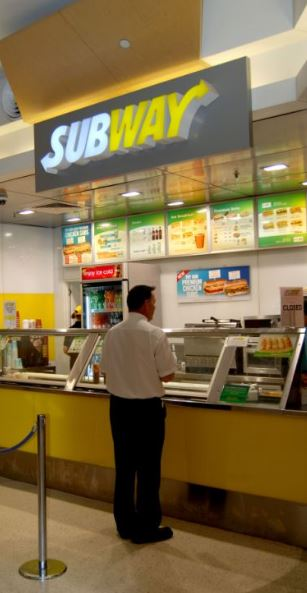 Subway at the airport